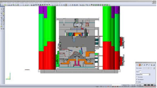 Mold design inside VISI Mold