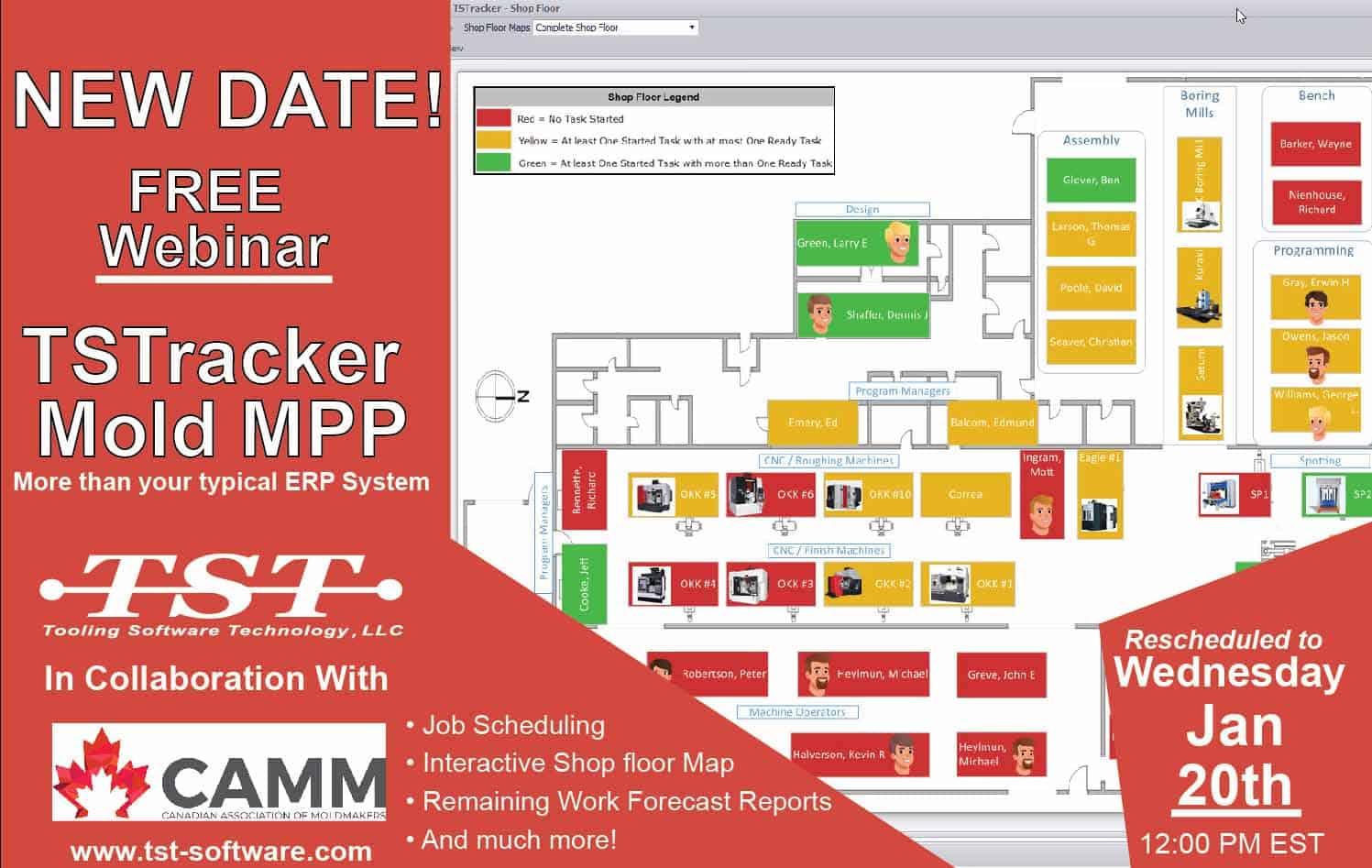 CAMM and TST Software: TSTracer ERP Webinar
